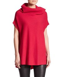VINCE | Red Cowlneck Cashmere Sweater | Lyst