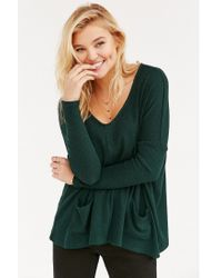 BDG | Green Mia Pocket Pullover Sweater | Lyst