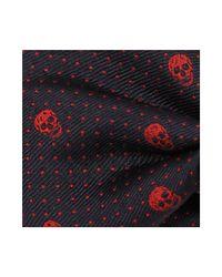 Alexander McQueen - Blue Skull Polka Dots Tie for Men - Lyst