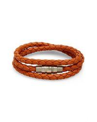 Porsche Design - Orange 'grooves' Wrap Bracelet for Men - Lyst
