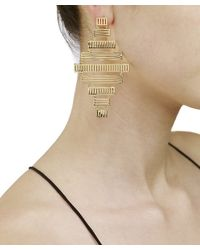 Arme De L'Amour | Metallic Stripe Earrings | Lyst