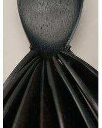 Monies - Black Leaf Shape Earrings - Lyst
