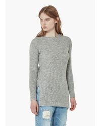 Mango | Gray Flecked Sweater | Lyst