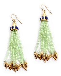 Lulu Frost | Green Nomadic Earring, Mint/lapis | Lyst