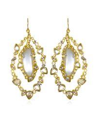 Alexis Bittar | Metallic Jardin Mystere Jagged Crystal Orbital Wire Earring | Lyst