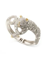 Alexis Bittar - Metallic Moonlight Resting Panther Hinged Bracelet - Lyst