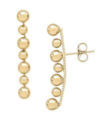 Lord & Taylor - Metallic 14k Yellow Gold Beaded Stud Earrings - Lyst