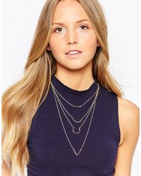 ALDO - Metallic Colturano Multirow Necklace - Lyst