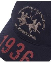La Martina Blue Heritage Logo Cap for men