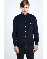 Dr. Denim - Blue Allan Field Cord Shirt in Navy for Men - Lyst