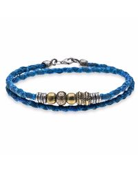 Platadepalo - Blue Denim Coloured Bracelet With Silver - Lyst