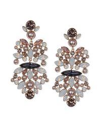 Givenchy | Pink Rose Goldtone Vintage Rose Blush Chandelier Earrings | Lyst