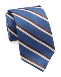 Michael Kors | Blue Striped Silk Blend Tie for Men | Lyst