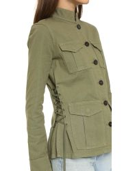 Tory Burch - Green Side Lace Jacket - Lyst