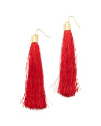 Adia Kibur - Red Zoe Tassel Earrings - Lyst