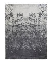 Yigal Azrouël - Gray Monochrome Graphicprint Modal Cashmere Scarf - Lyst