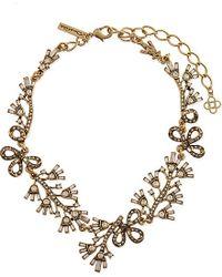 Oscar de la Renta | Metallic Russian Gold Crystal Baguette Necklace - For Women | Lyst