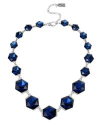 Kenneth Cole | Blue Faceted-stone Collar Necklace | Lyst