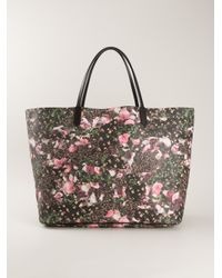 Lyst - Givenchy Antigona Floral Tote in Black 695008fd766c7