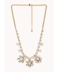 Forever 21 | Metallic Elegant Flower Necklace | Lyst