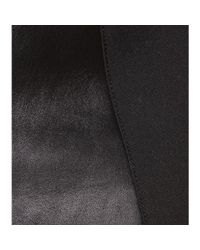 Roland Mouret - Black Nomada Leather And Wool-Blend Skirt - Lyst