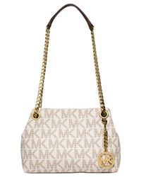 Michael Kors | Metallic Michael Jet Set Chain Item Medium Messenger | Lyst