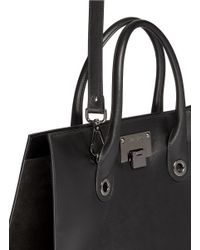 Jimmy Choo - Black 'riley' Leather Suede Box Tote - Lyst