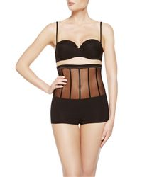 La Perla | Black Short With Suspenders | Lyst