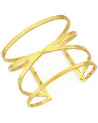 Vince Camuto   Metallic Gold-tone Cut-out Cuff Bracelet   Lyst