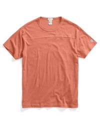 Todd Snyder | Orange Football T-shirt In Coral for Men | Lyst