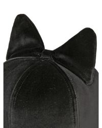 Federica Moretti | Black Frida Bow Cotton Velvet Baseball Hat for Men | Lyst