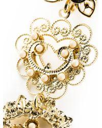 Isabel Marant - Metallic Floral Pattern Drop Earrings - Lyst