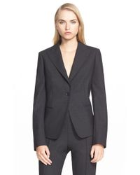 Max Mara | Gray Stretch-Wool Smart Blazer | Lyst