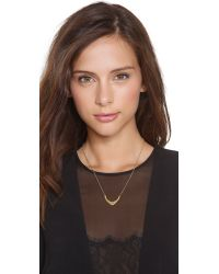 Gorjana | Metallic Aria Long Necklace - Gold | Lyst