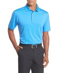 Peter Millar | Blue Stretch Jersey Golf Polo for Men | Lyst