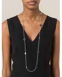 Marc By Marc Jacobs | Metallic Logo Pendant Necklace | Lyst