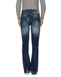 True Religion | Blue Denim Trousers for Men | Lyst