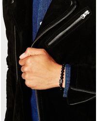 Simon Carter - Black Swarovski Skull Beaded Bracelet Exclusive To Asos for Men - Lyst