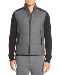 Vince | Black Channel Quilted Vest for Men | Lyst
