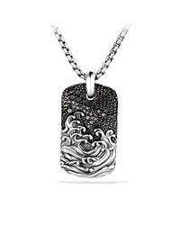 David Yurman | Black Waves Tag Necklace for Men | Lyst
