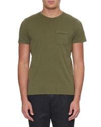 Oliver Spencer - Green Envelope Crew-Neck Jersey T-Shirt for Men - Lyst
