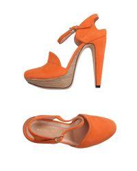 Roland Mouret - Orange Sandals - Lyst
