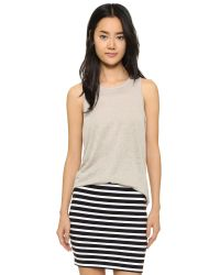 T By Alexander Wang - Natural Oversized Tank - Lyst