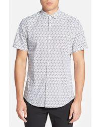 Calibrate - Blue Trim Fit Short Sleeve Geo Print Sport Shirt for Men - Lyst