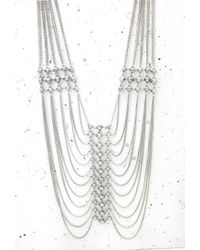 Forever 21 - Metallic Stud Draped Chain Necklace - Lyst