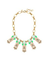 J.Crew - Green Polynesian Stone Necklace - Lyst