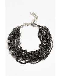 La Mer Collections | Metallic 'carerra' Chain Bracelet | Lyst