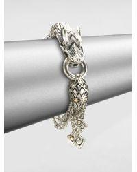 John Hardy   Metallic Naga 18K Yellow Gold & Sterling Silver Dragon Charm Multi-Strand Bracelet   Lyst