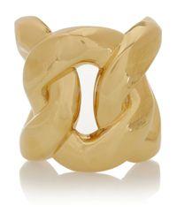 Balmain - Metallic Goldtone Cuff - Lyst