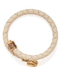 ALEX AND ANI | Natural Vintage 66 Braided Leather Wrap Bangle | Lyst
